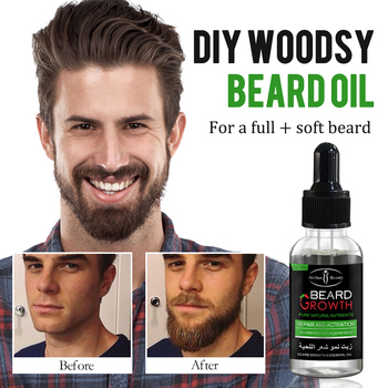 Natural Accelerate Beard Growth Oil Anti Hair Loss Men Beard Growth  Beard Grow Stimulator Facial Hair Grower 2pcs Moustache 3
