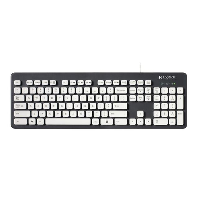 Logitech K310 Washable USB Wired Keyboard 108 Keys Gaming Office Keyboards For Windows XP Vista 7 8 Desktop Laptop PC Computer