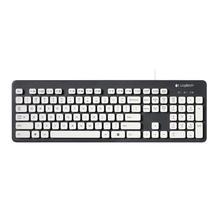 Logitech K310 zmywalna klawiatura USB przewodowa 108 klawisze klawiatury biurowe do gier dla Windows XP Vista 7 8 komputer stacjonarny do laptopa