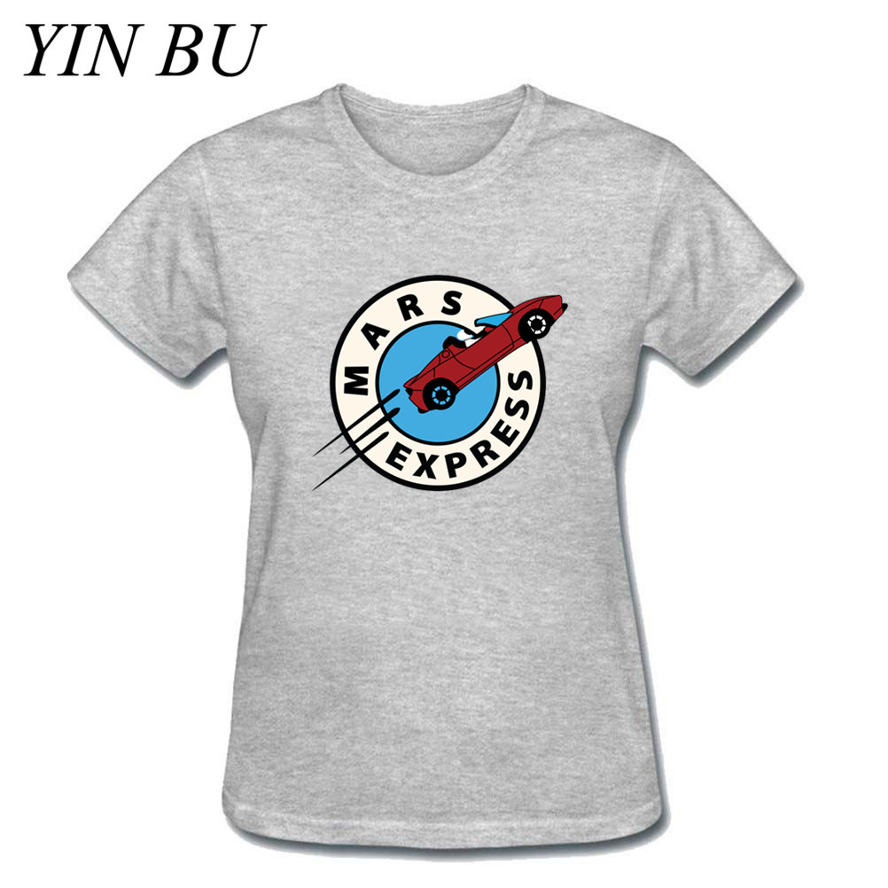 Women's Female Mars Express Starman SpaceX T-Shirt Elon Musk Falcon Heavy Premium Tesla Roadster T Shirt Girls T Shirts