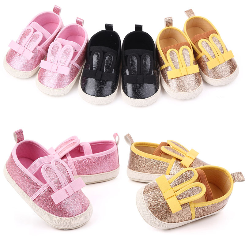 Newborn Baby Girl Boy Sequins Soft Crib Sole Anti-slip Moccasin Shoes Sneakers