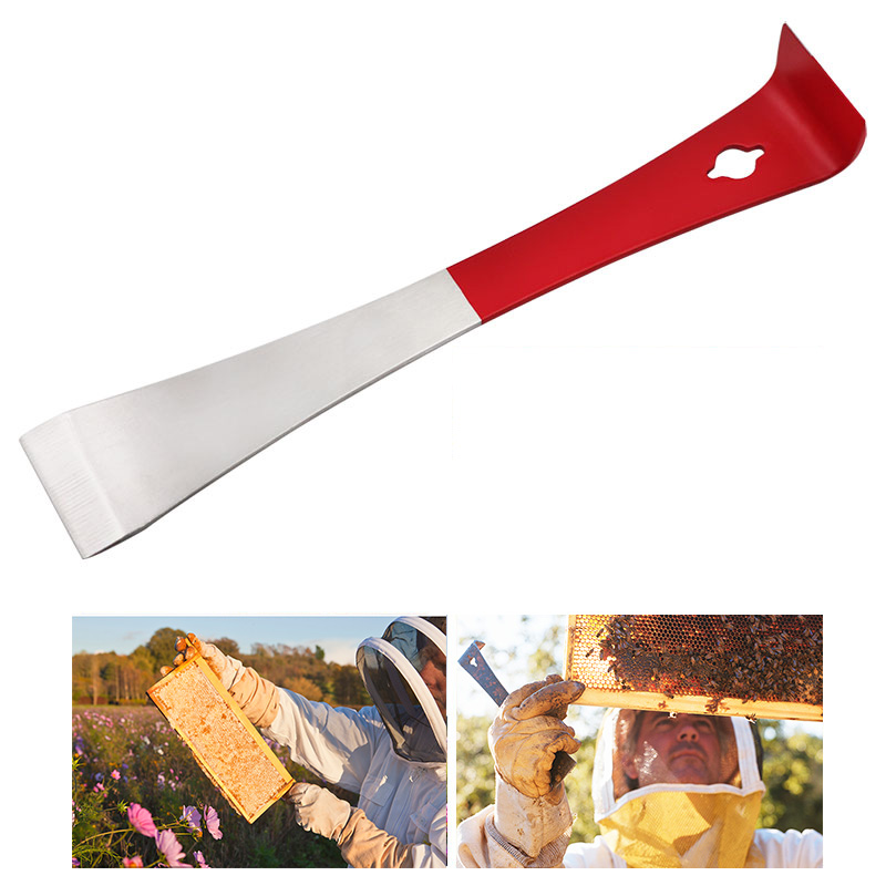 1 Pcs Beekeeping Stainless Steel Red J Shape Tools Curved Tail Bee Hive Hook Scraper Beekeeping Tool C527