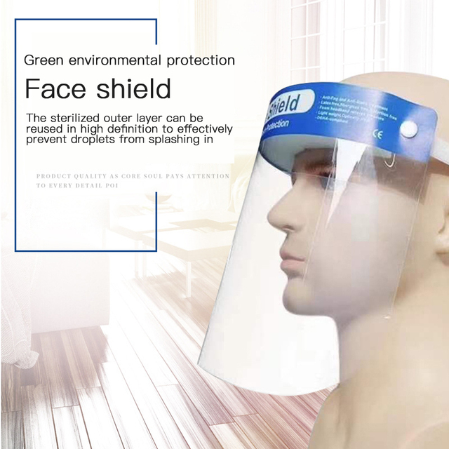 Anti Flu Transparent Protective Face Mask Anti-Fog Splash Oil-Splash Proof Full Face Mask Protect Shield Anti-Shock Safety Mask