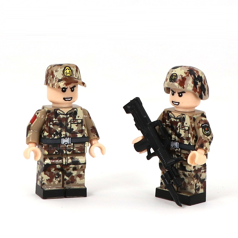 10pcs Military Weapons Accessories Equipment For Building Blocks Figures Toys