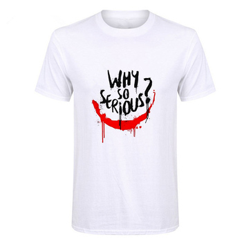 Showtly Joker Joaquin Phoenix T Shirt Short Sleeve Boy/girl/kids Top Tees Men Why So Serious T-shirt Funny Horror Satan Tees