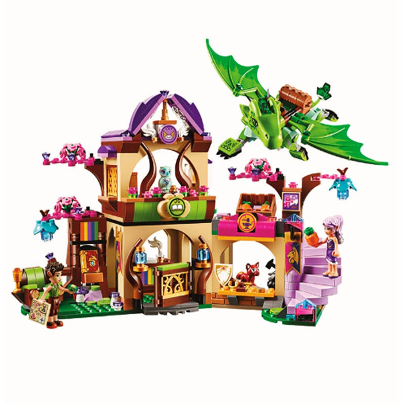 694pcs Friend Girl Elves Secret Market Place Bela Building Block Compatible Legoinglys Friends Brick Toys