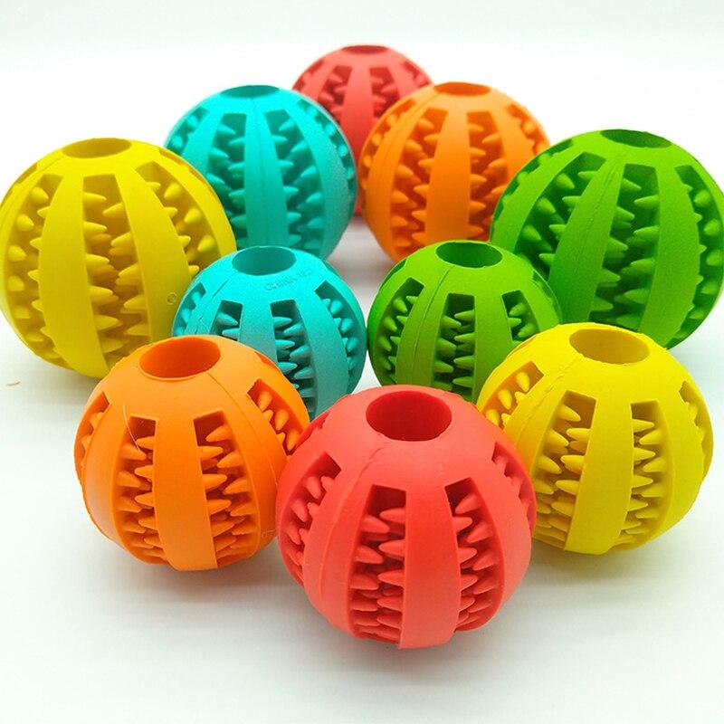Новинка, игрушки для домашних животных, 5 см, Φ, шар из натуральной резины, мяч для чистки зубов, интерактивные игрушки для жевания кошек и собак-1