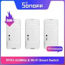 Itead Sonoff RFR3 433 мгц радиочастотный контроль DIY умный дом Wifi умный переключатель работает через eWeLink работает с Alexa Google Home IFTTT
