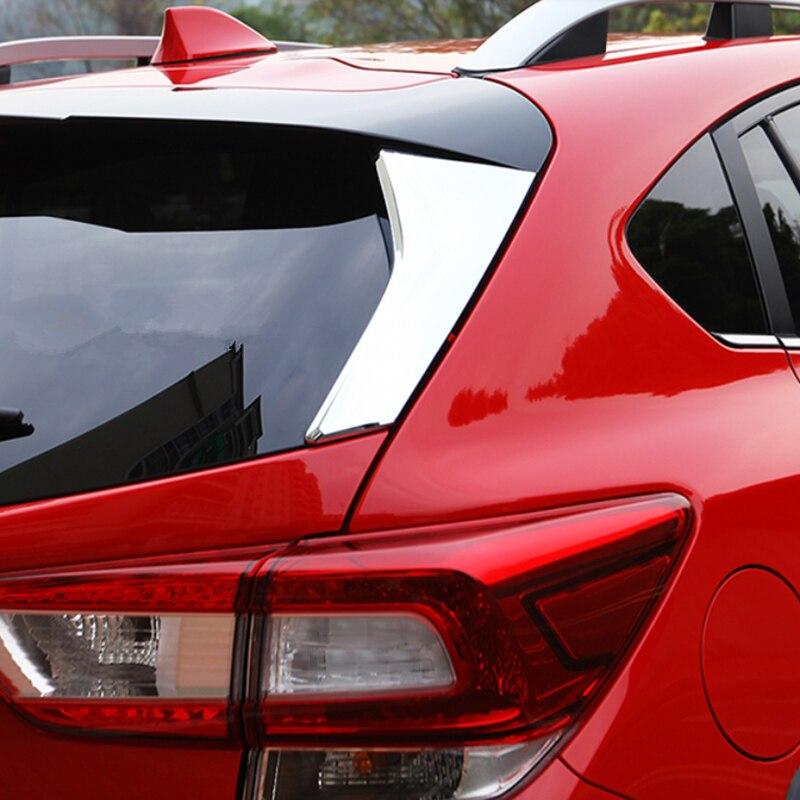 Style de voiture pour Subaru Xv accessoires chrome aileron arrière Conner couvercle de porte arrière extérieur décoratif autocollant garniture garde 2018 2019