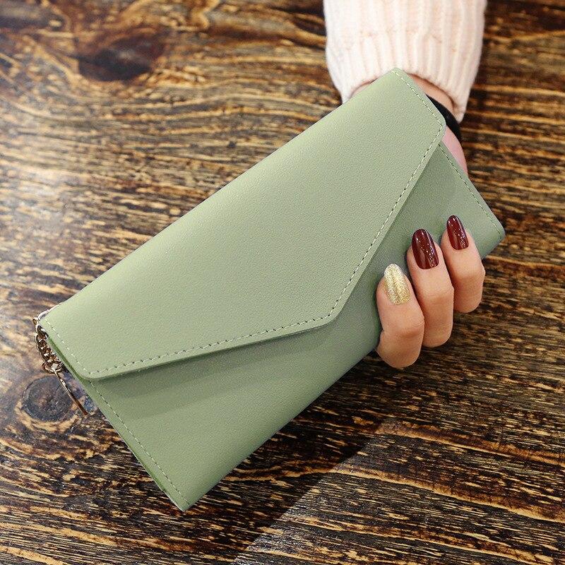 Длинный кошелек, женские кошельки с кисточками, модный кошелек для монет, держатель для карт, женские кошельки, высокое качество, клатч, сумка для денег, кошелек из искусственной кожи - Цвет: MatchaGreen