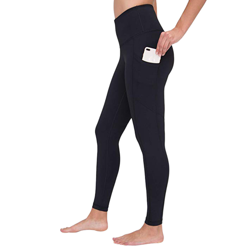 Women Workout Out Pocket Leggings Fitness Sports Running Athletic Pants#25