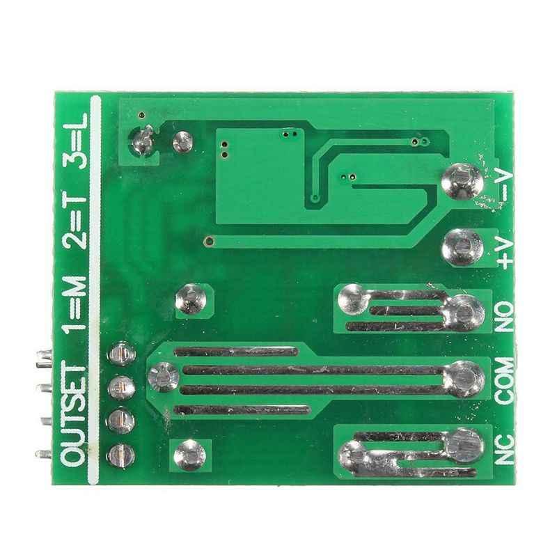 433MHz 1 채널 무선 릴레이 RF 원격 제어 스위치 수신기 송신기 12V 10A 녹색