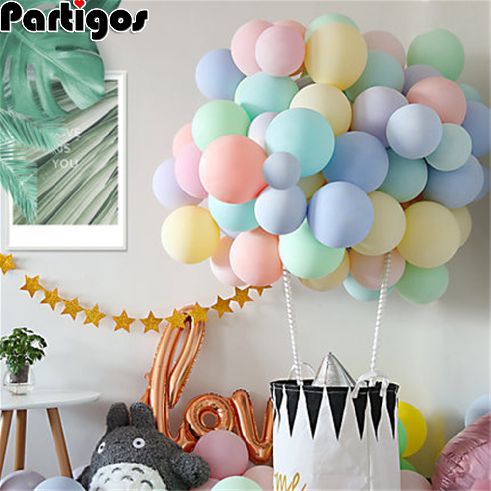 50 Pcs Pastel Latex Balloons Macaron 10/'/' Balloon Candy Birthday Wedding Party