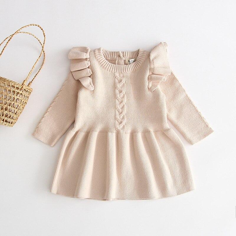 Hc6d1f15200bd4754a586042912ebf585L Girls Knitted Dress 2019 autumn winter Clothes Lattice Kids Toddler baby dress for girl princess Cotton warm Christmas Dresses