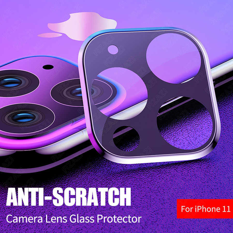 Back Camera Case For iPhone 11 Pro Max Camera Len Tempered Glass For Iphone 11 Screen Protector Metal Rear Lens Protection Case