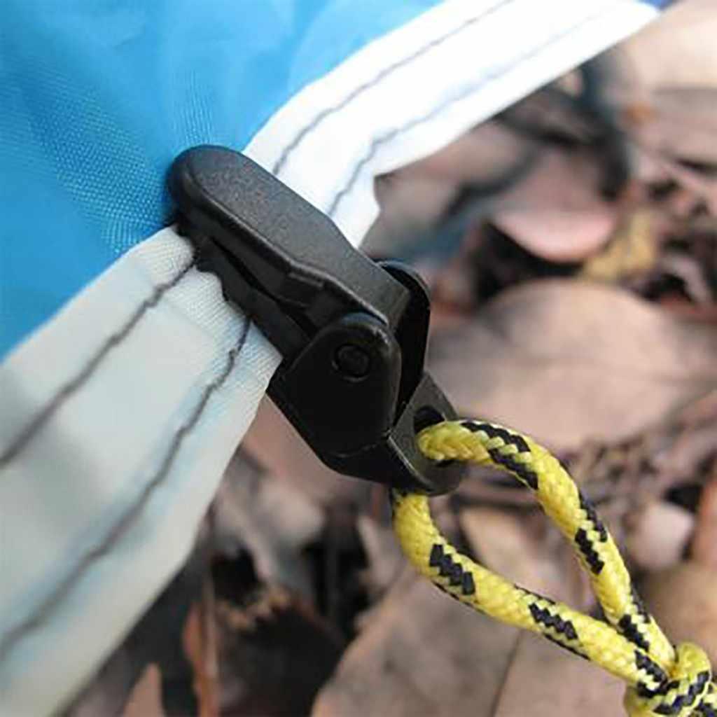 4/5/20 sztuk Heavy Duty odkryty Camping zadaszenia namiot zacisk do zasłon Tarp klipy Balck zestaw Mini narzędzie darmowa wysyłka