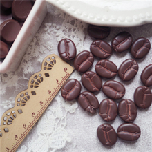 10Pcs Charms Simulated Coffee Beans Resin Addition for Slime DIY Accessories Beads Making Supplies Scrapbooking Crafts