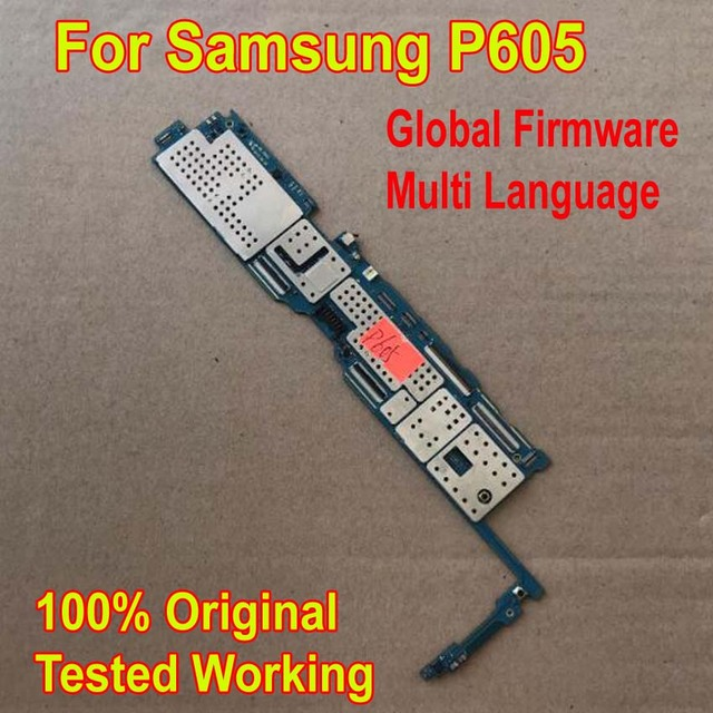 Global Firmware Original Work Motherboard for Samsung Galaxy Note 10.1 Edition P605 Mainboard Logic Circuits Card Fee Flex Cable