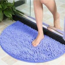 Tapis de salle de bain souple antidérapant 40x60cm, tapis de sol, barrière contre la saleté, demi-cercle, porte, coussin