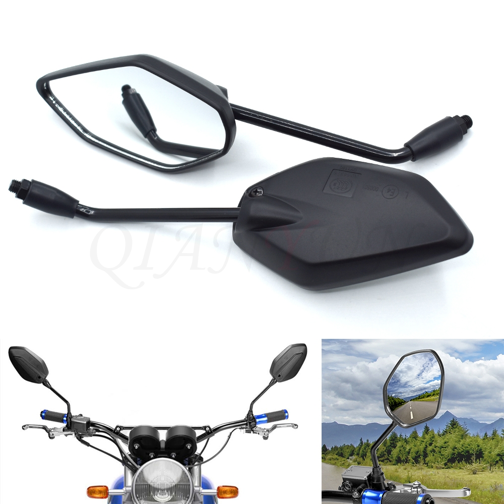 Other Motorcycle Handlebars, Grips & Levers 1Pair Black Rear View ...