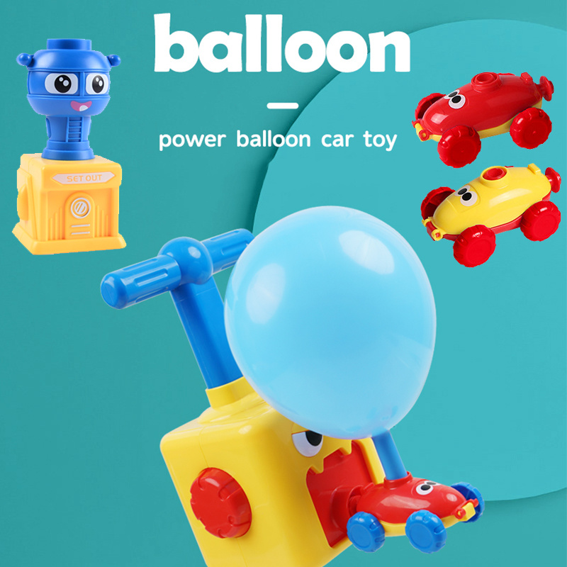 Balloon Launcher & Powered Car Toy Set 4