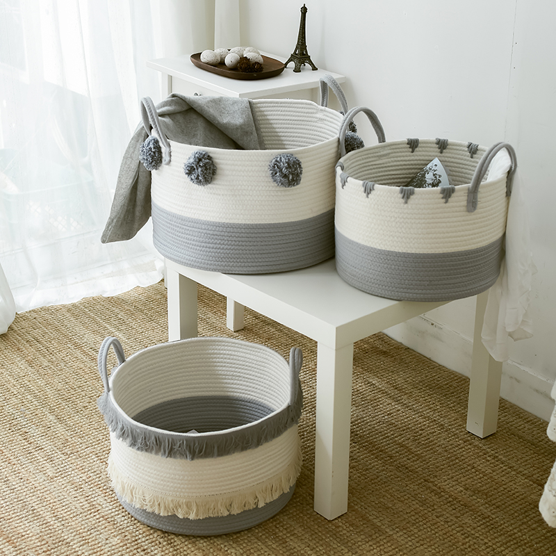 Eco Friendly Cotton Rope Basket Eco Friendly Home Baskets » Planet Green Eco-Friendly Shop