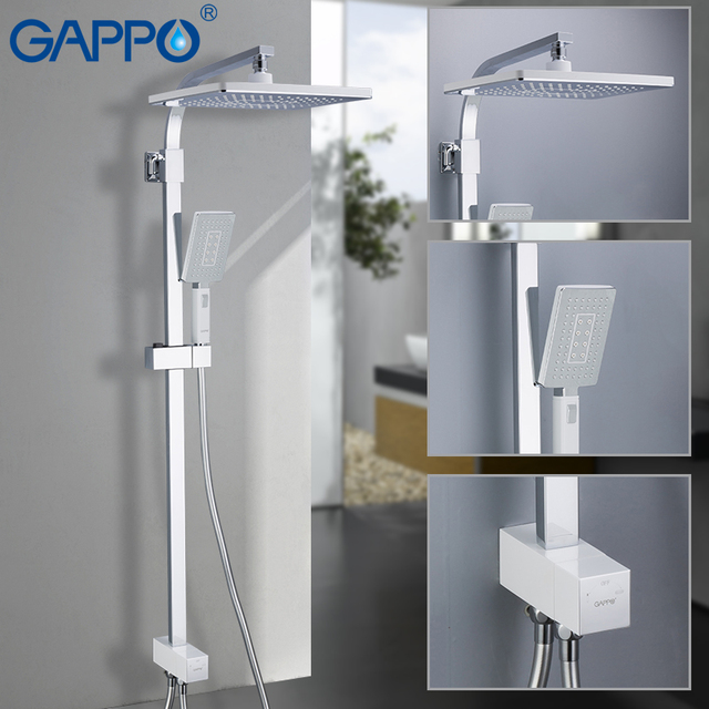 GAPPO Shower Faucets shower panel  waterfall shower mixer tap bathroom faucet  water tap   faucet rainfall Chrome Plated G2408 8