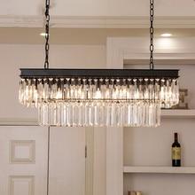 Oden Chandelier Lighting Living room Bedroom Kitchen rectangular chandelier Mid century Home Decor lustre moderno light fixture