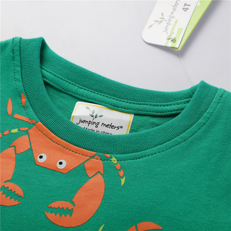 Hc6d270a7a23c420e910856088a84015d2 Jumping meters Animals Summer Boys Girls T shirts Crabs Printed Cotton Baby Clothes Tees Boys s
