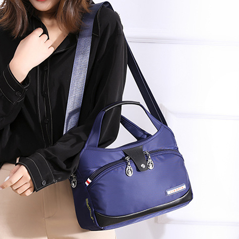 Shoulder Bags Nylon Summer Fashion Casual Pure Color Single Shoulder Bag Large Capacity Canvas Bag Lady's Slanting Bag