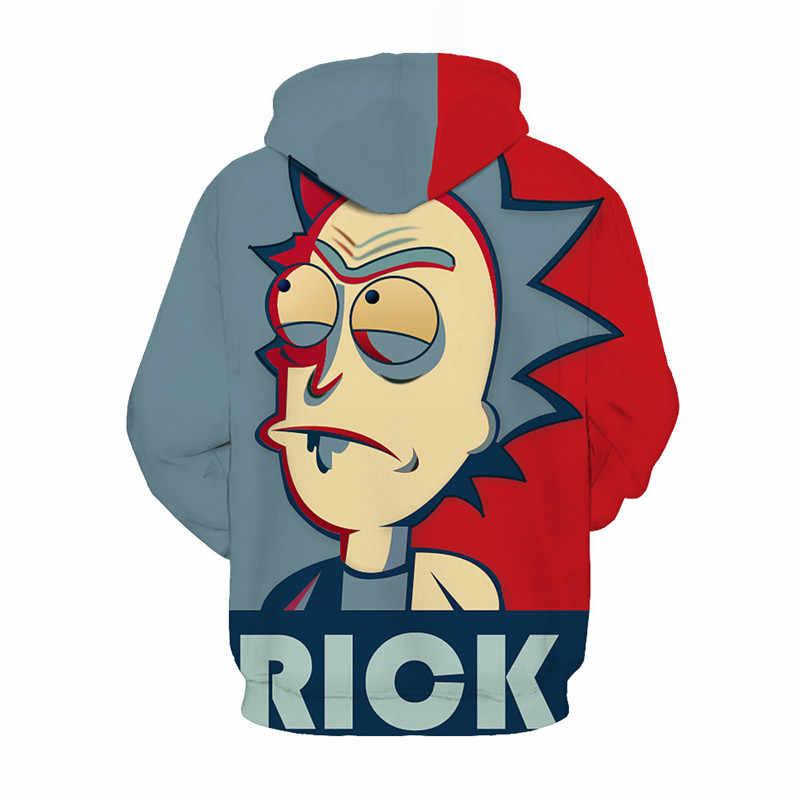 Rick Und Morty 3D Drucken Mens Hoodies und Sweatshirts Lustige ricky y morty Hüfte Hop Mit Kapuze Jacke Männer Trainingsanzug Anime kleidung