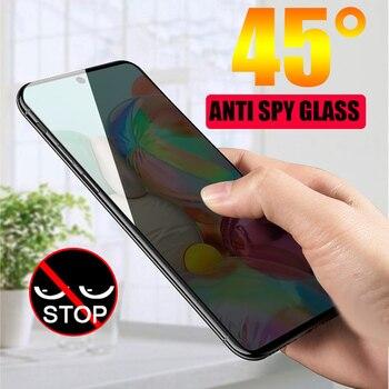 Перейти на Алиэкспресс и купить 9D полное изогнутое анти-шпионское закаленное стекло для Samsung Galaxy S20 Ultra S20 + A51 A71 A50 M30s A7 A9 2018 защита экрана конфиденциальности