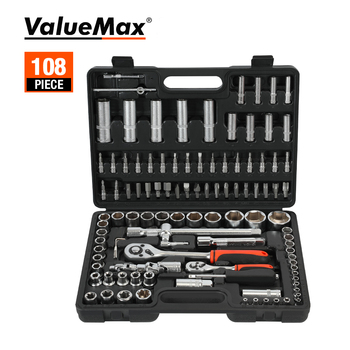 ValueMax Hand Tool Sets Car Repair Tool Kit Set Workshop Mechanical Tools Box for Home Socket Wrench Set Screwdriver Kit