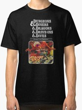 DUNGEONS & DINERS & DRAGONS & DRIVE-INS & DIVE SIZE S TO 2XL USA SIZE T-SHIRT EN(China)