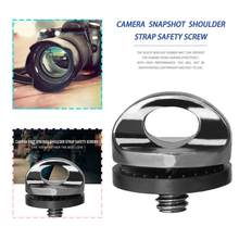 Professional 1/4 Inch Standard Screw Camera Strap Tripod Quick Release Plate Mount Suitable For DSLR SLR Silver Black(China)