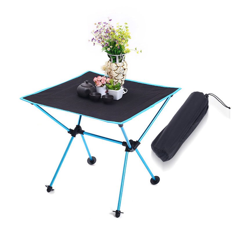 Camping Table Foldable Portable Outdoor Camping Fishing Tourit Table Picnic BBQ Folding Table Outdoor Park Beach Travel Table