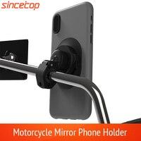 Soporte de teléfono móvil para motocicleta, montaje rápido para vehículos eléctricos, espejo retrovisor para moto, GPS, bloqueo rápido