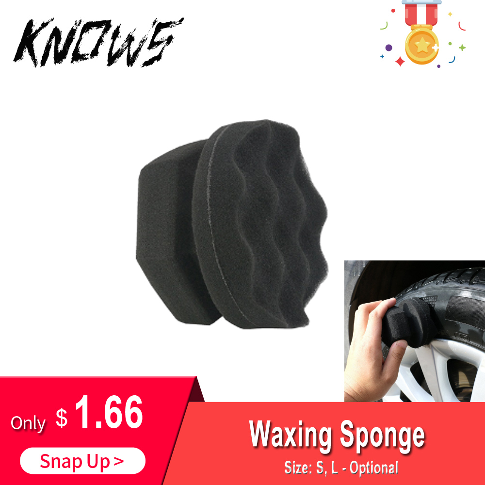 Auto Accessories Car Tire Dressing Applicator Portable Handy Polishing And Waxing Sponge