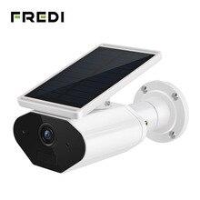 FREDI 1080P Solar Low Power Wireless IP Camera WiFi Waterproof Security Bullet Camera IR Night Vision Surveillance CCTV Camera