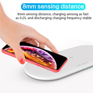 Image 4 - Fast Wireless Charger for iPhone 11 Pro X 8 Plus 3 in 1 Qi Wireless charging pad For Airpods For Apple Watch 4 3 2 1 Charge