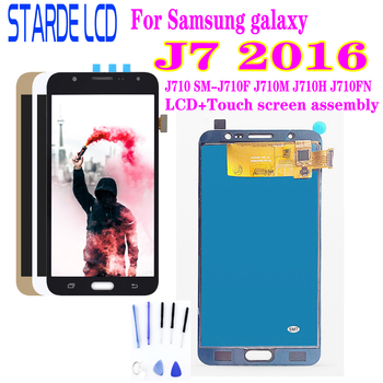 For Samsung Galaxy J7 Lcd 2016 J710 SM-J710F J710M J710H J710FN LCD Display With Touch Screen Digitizer Assembly for samsung galaxy j7 2016 j710 sm j710f j710fn j710m j710h j710a housing battery cover back cover case rear door chassis shell