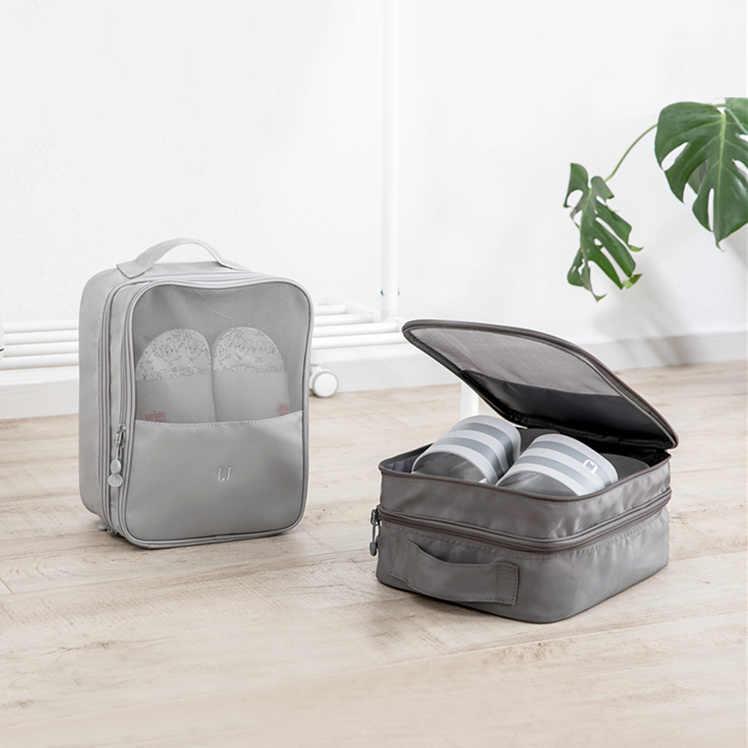 Jordan & Judy wygodna torba do przechowywania podróżna Nylon 2 kolory przenośna zewnętrzna organizery worek do sortowania butów wielofunkcyjna torba