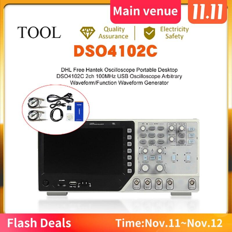 Hantek dso4102c digital multimeter Usb 100 mhz bandwidth 2 handheld channels digital осциллограф usb oscilloscopes