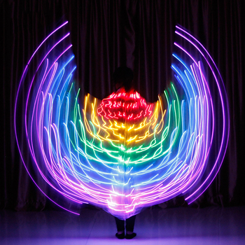Colorful Belly Dance Isis Wings Led Isis Wings Belly Dance Accessory Wings Costume Butterfly Wings Adult For Adult Kids фото