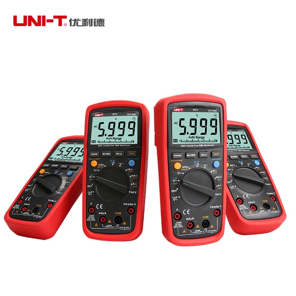 Купить с кэшбэком UNI-T UT139E True RMS Digital Multimeter LPF pass filter LoZ Temperature test