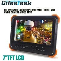 X41TAC NEW update Portable CCTV Security Camera Monitor 5MP 1080P TVI AHD HDMI VGA CVBS Camera CCTV Tester 7 TFT LCD Monitor