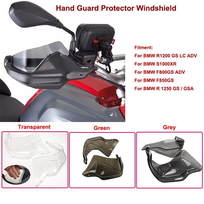 Motorbike Accessories Full Set HandGuard Shield Hand Guards Windshield for BMW R 1200 GS ADV R1200GS LC F800GS Adventure S1000XR R1250GS F750GS F850GS Color : Dark Smoke