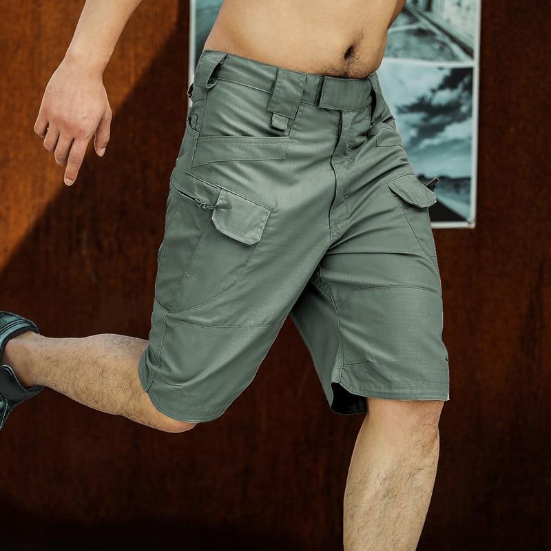 Мужские тактические шорты, городские уличные карго-шорты Ripstop в стиле милитари, повседневные бермуды с несколькими карманами для боевой охо...