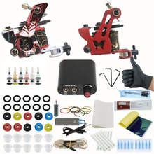Ink-Set Makeup-Tattoo-Set Permanent Power-Supply Gun for Starter Grips Body-Art-Tools-Kit