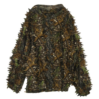 3D Leaf Adults Ghillie Suit Woodland Camo/Camouflage Hunting Deer Stalking in 2